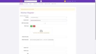 Kitchen Registration